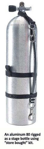 Tech Scuba Diving BCD Stage Bottle Seitenmontage Tragegurt Rigging Zubehör