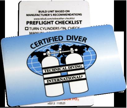 TDI Rebreather Preflight Checklist