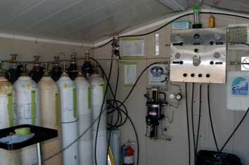 gas blending room