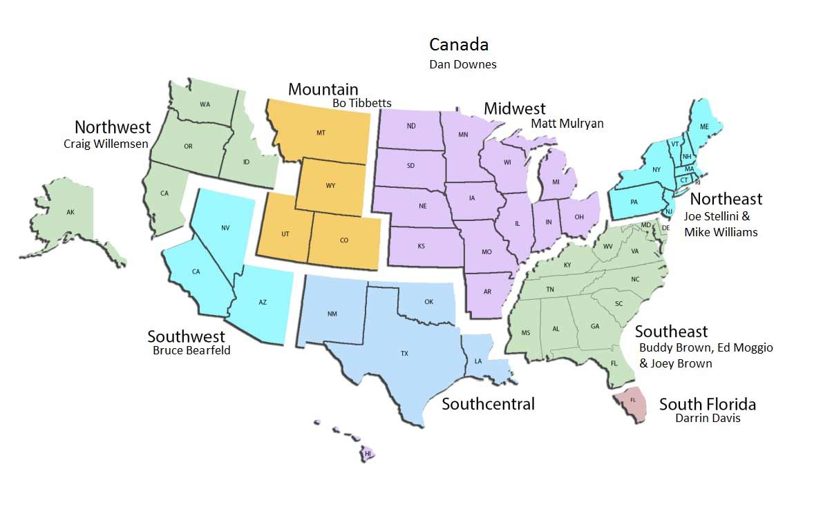 National Sales Map