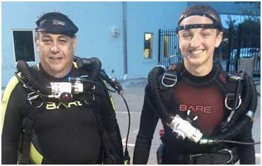 Kevin with Peter Friedman: Stuart Scuba