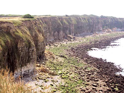 the cliffs at Pointe du Hoc