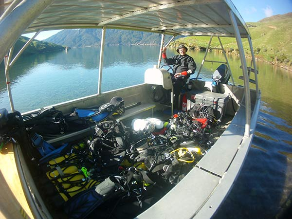 New Zealand Dive Boat