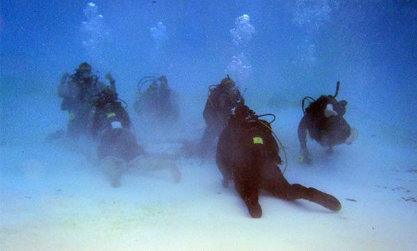 PS Divers at depth