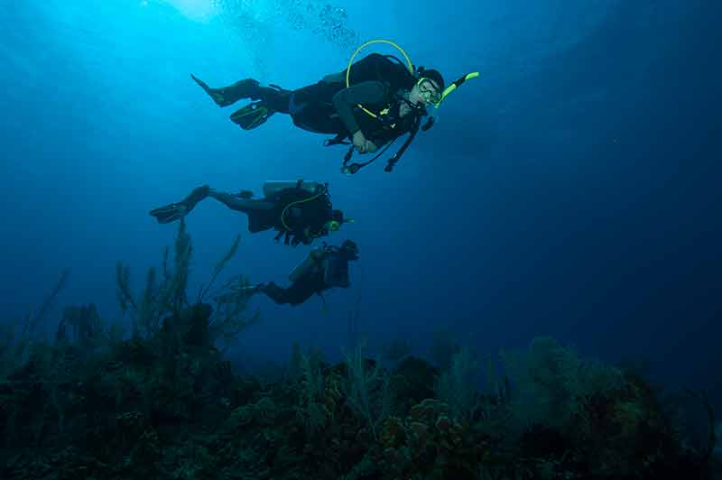 3 SDI scuba divers