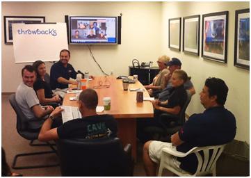 throwback team meeting