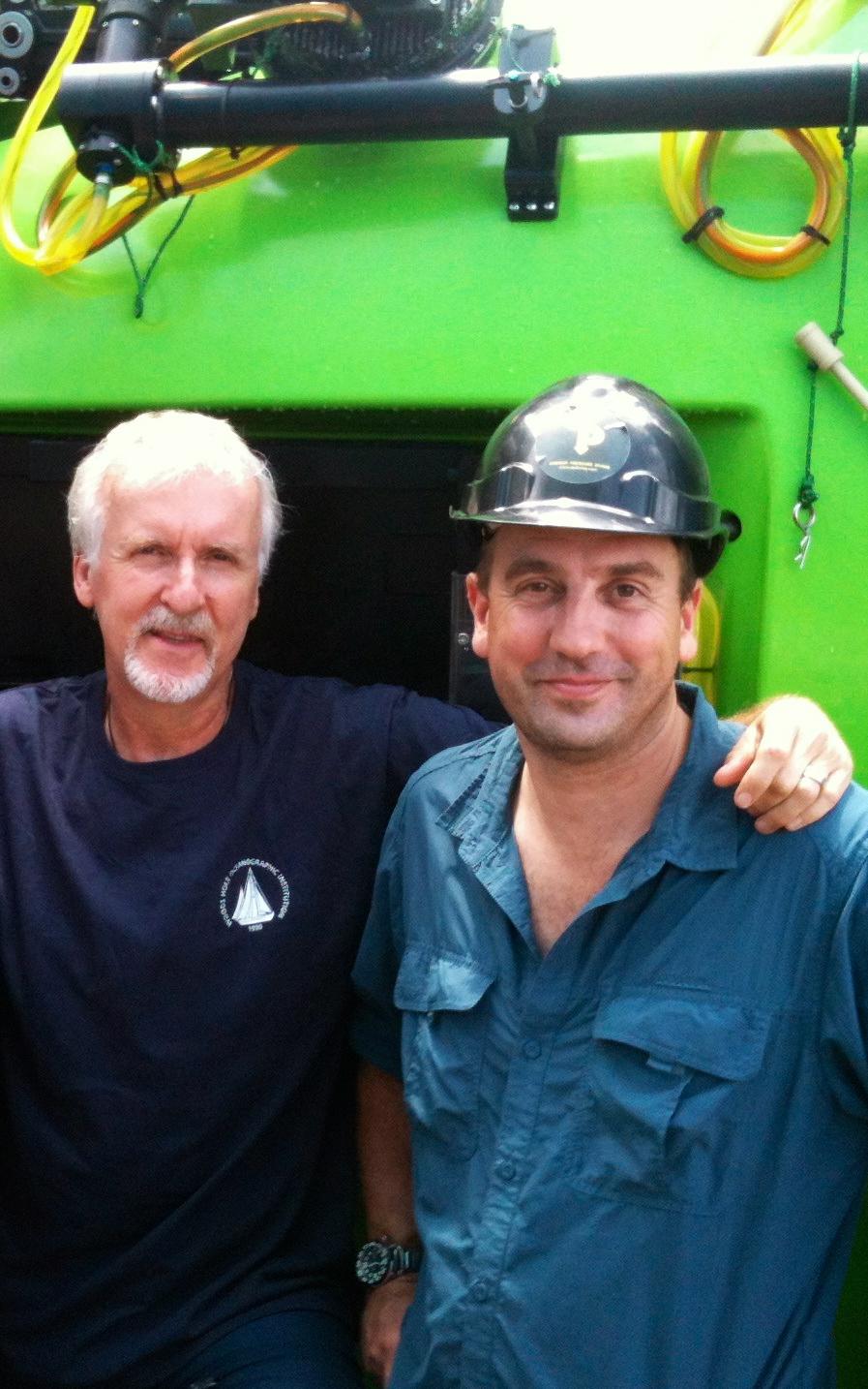 James Cameron and John Garvin