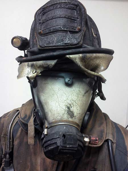 Fire and Rescue mask melted