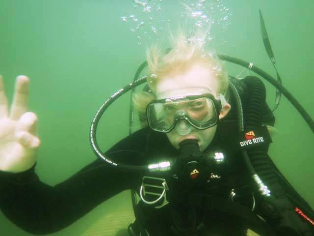 Kennedy scuba diving