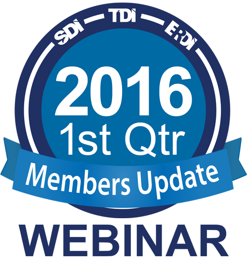 SDI TDI ERDI Members Update