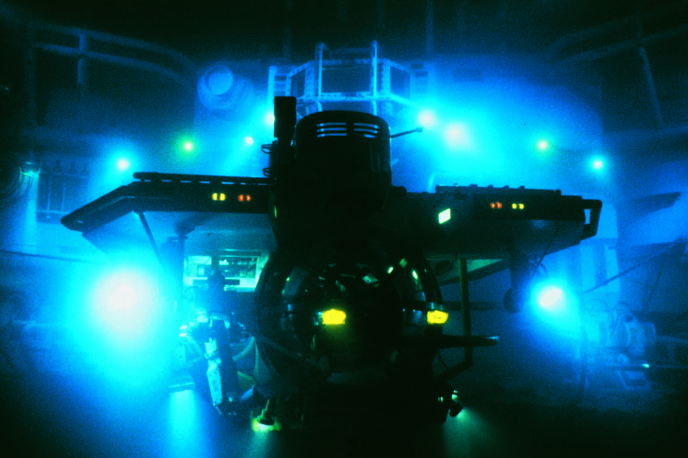 Full-scale operating submersibles were were used in The Abyss