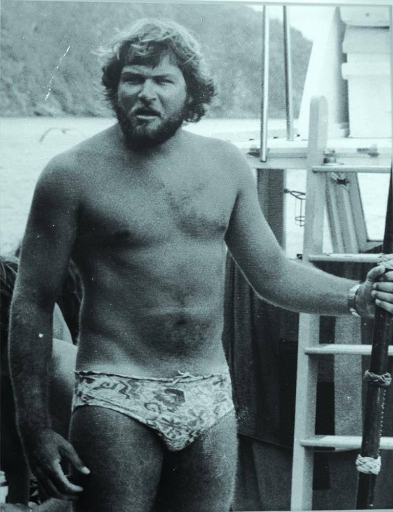 On film set, 1976