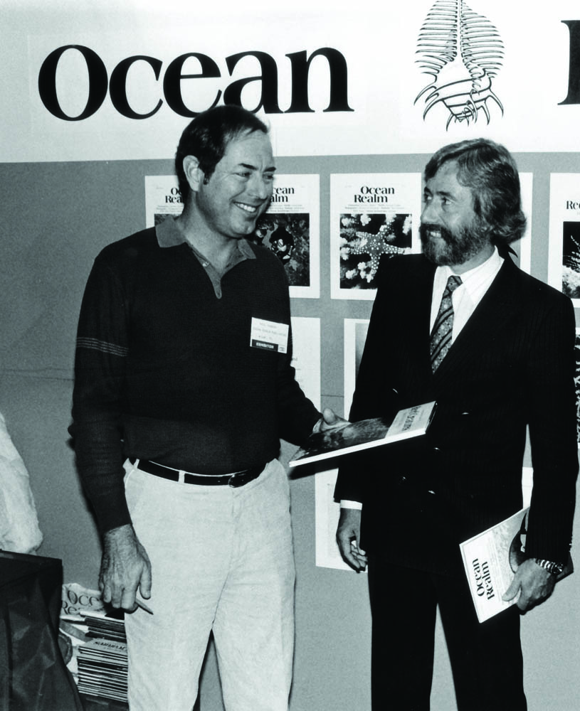 Paul with Jean Michele Cousteau, 1982