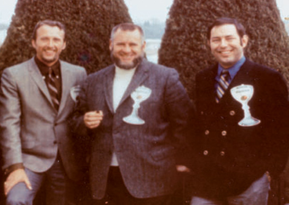 "Three of ""Martini's Outlaws"" at the First Midwest Underwater Film Festival; Jack Mckenny, Dewey Bergman and Humann, 1968"