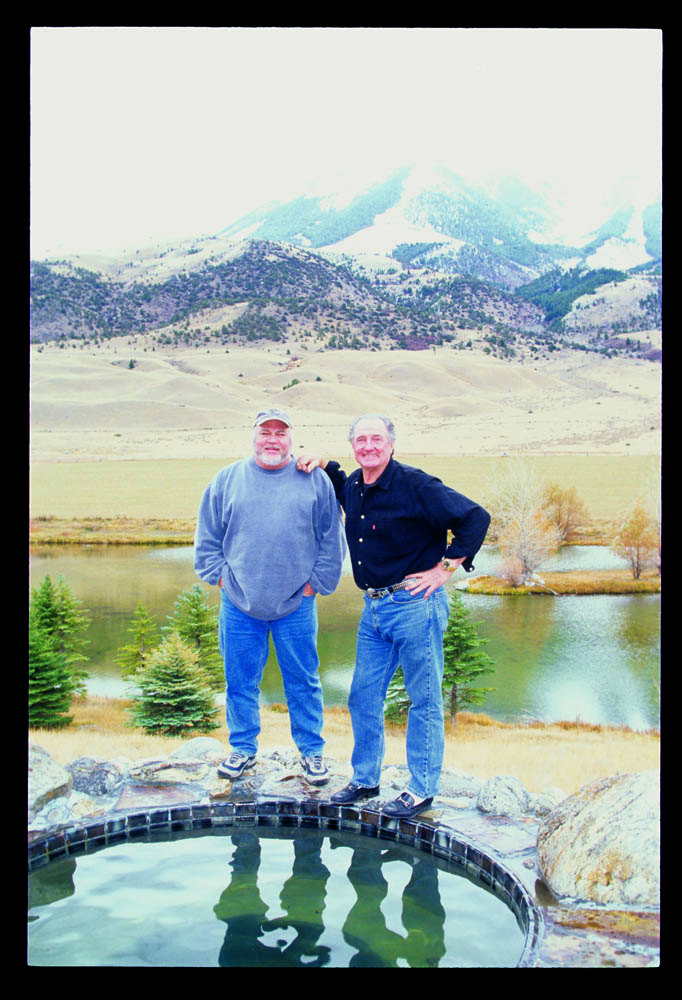 Bret Gilliam and Giddings at his Montana home, 2002