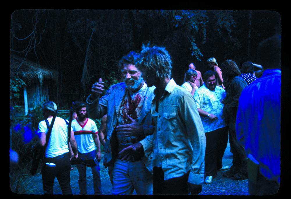 Burt Lancaster and Michael York on set