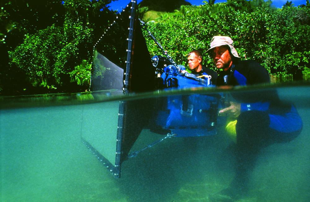 IMAX crew, Fiji, Coral Reef Adventure, 2001
