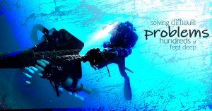 diver solving problems