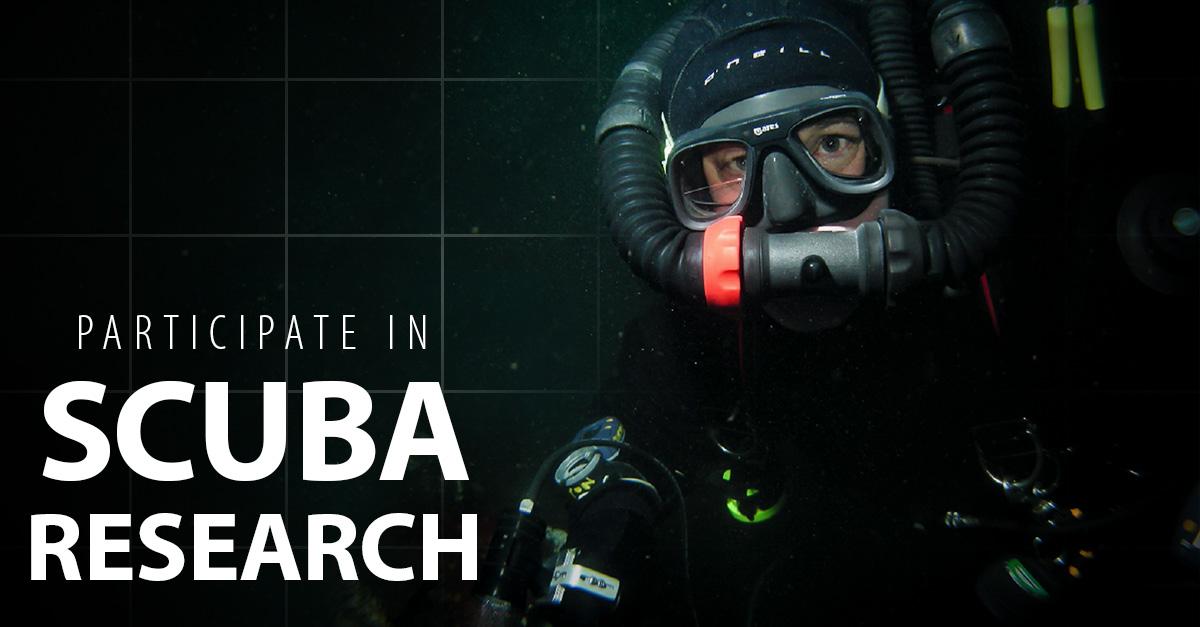 participating in scuba research