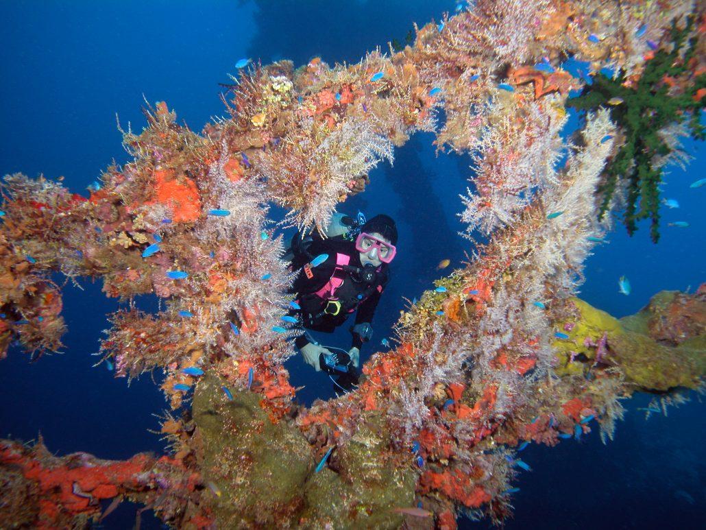 Nippo Maru wreck Truk Lagoon