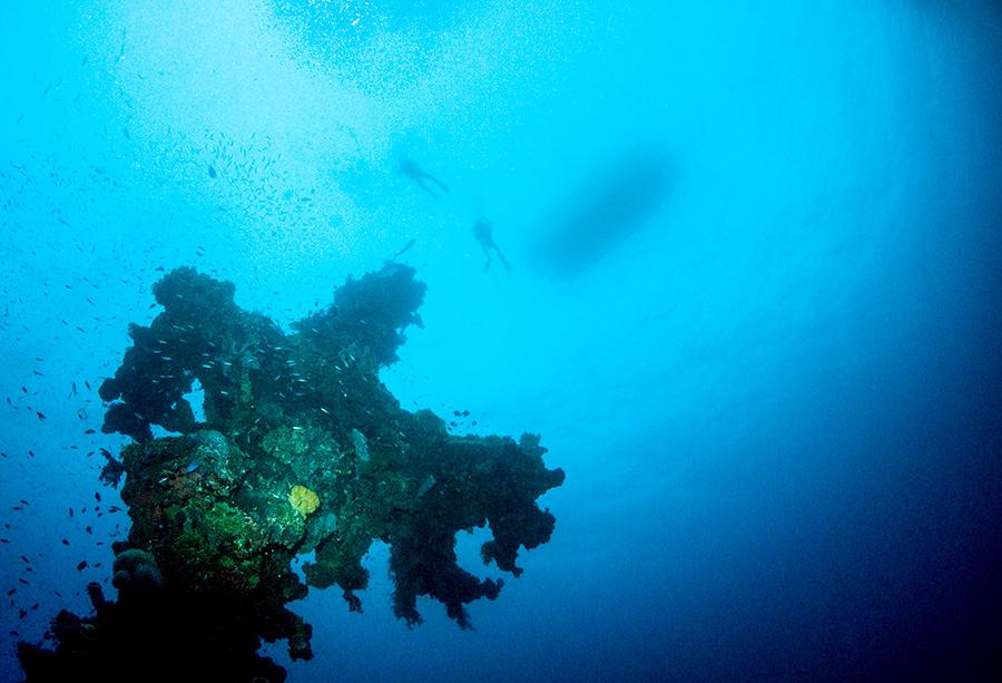 Hoki Maru mast Truk Lagoon