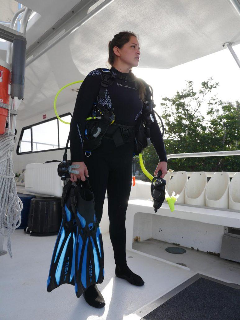 girl scuba diver