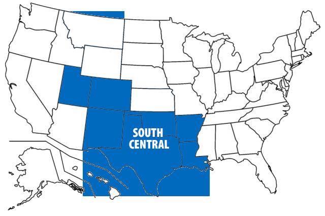 South Central USA